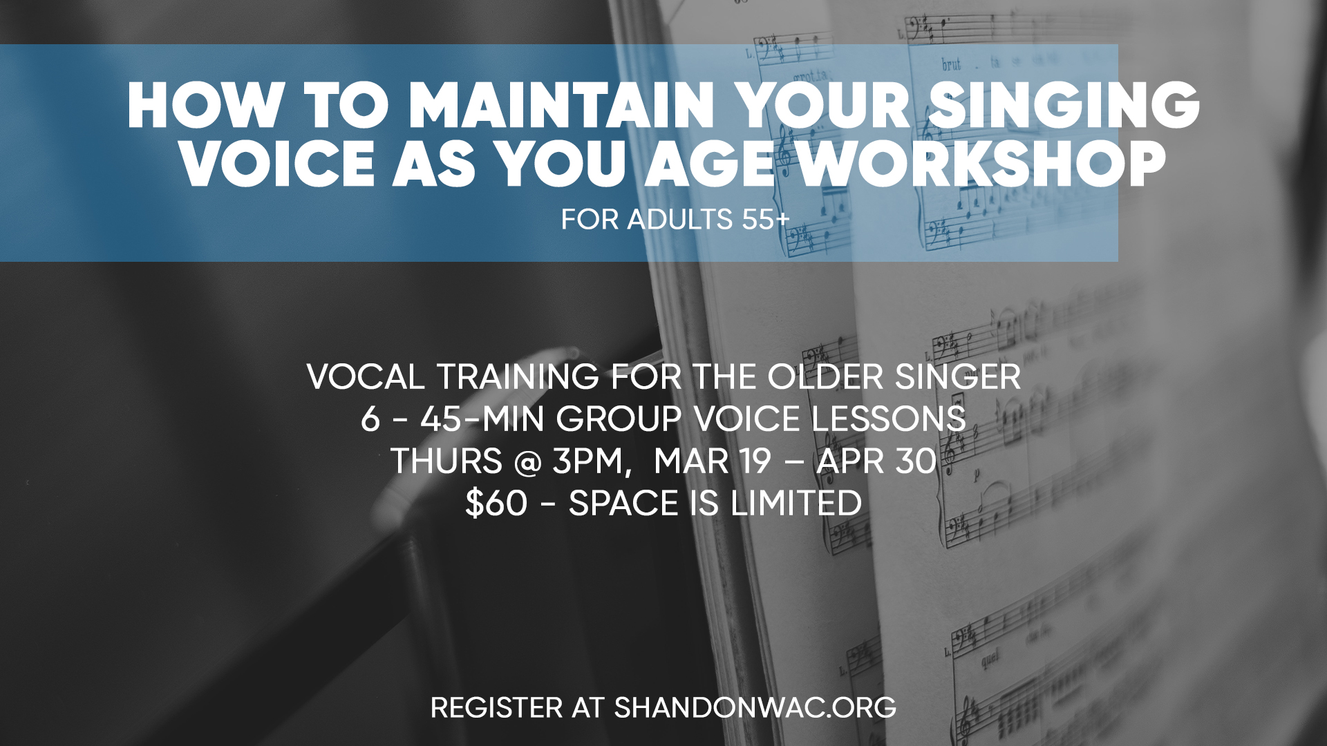 Worship Arts Center Workshop - Maintain Your Singing Voice As You Age